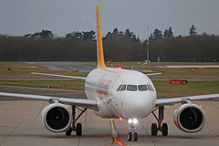 TC-NBV Airbus A320-251N Pegasus Airlines Nose On Stansted 12th January 2019 (michael_hibbins) Tags: tcnbv airbus a320251n pegasus airlines nose on stansted 12th january 2019 aircraft airliner airline passanger passenger commercial civil neo aeroplane aerospace aviation aero airfields airport airplane airports plane planes jet jets