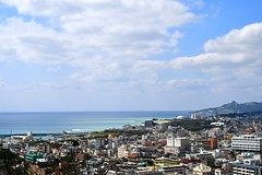 Nago Coast (D. Lada-something) Tags: architecture beach daytime buildings town city jungle island pacific southchinasea ocean seascape landscape flickrsbest d7500 nikon japan okinawa nago