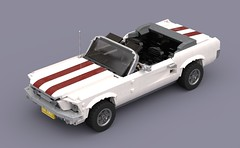 Ford Mustang 1967 Convertible (Vaionaut) Tags: ford mustang convertible cabriolet classiccar oldtimer lego vehicle