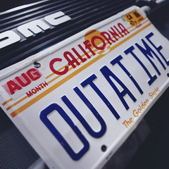 day 60 (Randomographer) Tags: project365 license plate california outatime aug ca 86 back future science fiction film time traveling delorean car automobile typography type zemeckis 88mph flux capacitor 121gigawatts vanity logo dmc 60 2019 vii 365