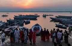 Varanasi, India (Ninara) Tags: varanasi india uttarpradesh ghat ganges ganga gangaaarti sadhu nagasadhu sunrise morning bathing holycity kashi benares