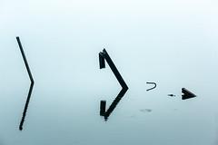 The Arrows (AlKulon) Tags: arrow backlight debris figure landscape metal minimalart minimalism morning pointer reflection water вода пейзаж утро