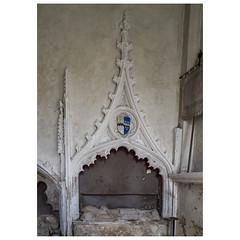 Tomb of John de Burgh (1300-1330) (badger_beard) Tags: st augustine canterbury burrough green cambridgeshire south cambs east newmarket parish church england john de burgh monument recess tomb