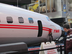 2019 Celebration of Retro TWA Hotel - Wingless Plane Times Square 4498 (Brechtbug) Tags: 2019 celebration retro twa hotel brooklyn wingless 1958 lockheed constellation connie l1649a starliner airplane visits times square before heading trans world airlines new yorks john f kennedy international airport known york anderson field commonly idlewild city march 23rd nyc 02232019
