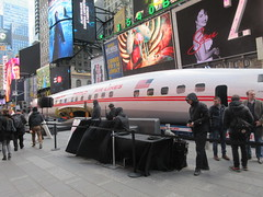 2019 Celebration of Retro TWA Hotel - Wingless Plane Times Square 4493 (Brechtbug) Tags: 2019 celebration retro twa hotel brooklyn wingless 1958 lockheed constellation connie l1649a starliner airplane visits times square before heading trans world airlines new yorks john f kennedy international airport known york anderson field commonly idlewild city march 23rd nyc 02232019