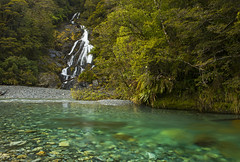 The Fall (Matt Champlin) Tags: water waterfall newzealand blue aqua amazing beautiful exotic travel hike hiking adventure canon 2018 clean pristine clear pure life love nature