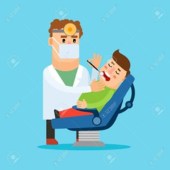 Dentist and patient (thejohnpaul04) Tags: dentist patient vector cartoon adult professional care caries set chair character clean dental clinic concept consultation dentistry design doctor equipment flat health healthcare healthy check isolated open tooth medical mask toothache tool sign symbol oral male occupation treatment people medicine smile illustration young stomatology hospital mouth instrument hygiene man blue