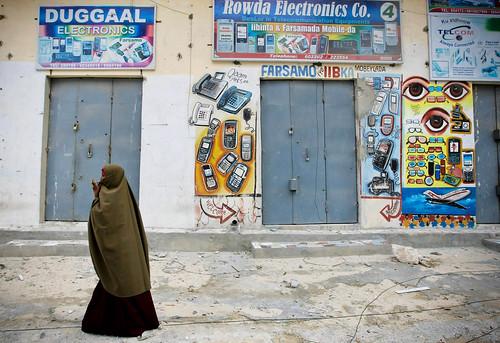 Mogadishu Market District Deserted