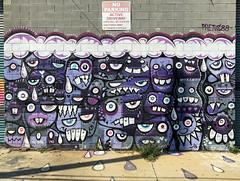 Mixed Emotions by Phetus (wiredforlego) Tags: graffiti mural streetart urbanart aerosolart publicart williamsburg brooklyn newyork nyc ny phetus violet purple