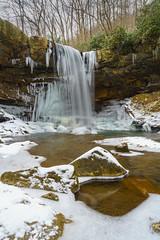 Cucumber Falls Winter (jeanineleech) Tags: january ohiopylestatepark pennsylvania cold creek snow snowfall snowflakes snowlined trees white winter usa