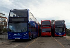 Lymington Train Station (PD3.) Tags: bus buses psv pcv lymington more hampshire hants england uk wilts dorset go ahead goahead group adl enviro 400 bluestar 1531 hj63jje hj63 jje hf05ggu hf05 ggu 1536 jju hj63ggu volvo est lancs unilink