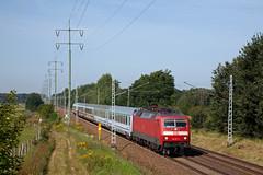 DB 120 157 + EC 249 (Wawel) Lüneburg - Krakow Glowny  - Diedersdorf (Rene_Potsdam) Tags: diedersdorf br120 brandenburg deutschland deutschebahn railroad treinen züge trenes trains