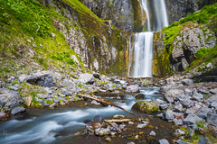 Comet Falls Flow (RobertCross1 (off and on)) Tags: a7rii alpha cascaderange cascades cometfalls emount fe1635mmf4zaoss ilce7rm2 longexposure mtrainier mtrainiernationalpark pacificnorthwest sony vantrump wa washington creek fullframe grass landscape mirrorless moss nature stream volcanic volcano water waterfall