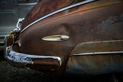 Wearing skirts (hutchphotography2020) Tags: fenderskirts rusty antiqueauto humpback chrome nikon