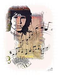 Sounds from Jim Morrison (SØS: Thank you for all faves + visits) Tags: digitalartwork art kunstnerisk manipulation solveigøsterøschrøder artistic dollar face jimmorrison man melody portrait sounds music