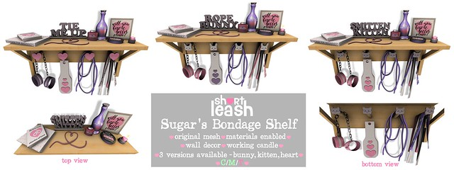 .:Short Leash:. Sugar's Bondage Shelf