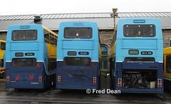 Dublin Bus RV604/28 & RA198. (Fred Dean Jnr) Tags: olympian rv604 99d604 99d628 rv628 95d198 ra198 broadstonedepotdublin february2013 volvo leyland alexander r dublinbusyellowbluelivery