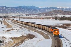 BNSF 8580 Castle Rock 2 Feb 19 (AK Ween) Tags: bnsf bnsf8580 emd sd70ace castlerock colorado jointline rampartrange train railroad