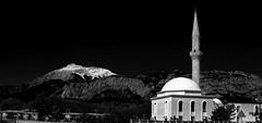 Turkey -2005 (Cornelis photographer / author) Tags: turkije türkei turkey moskee moschee mosque monochrome zwartwit schwarzweis schwarzweiss nacht night canonixus430 mountain berg sneeuw snow schnee
