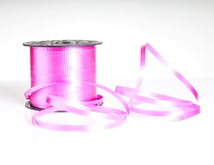 Pink Ribbon (Karen_Chappell) Tags: pink ribbon white product stilllife curly curls spool pastel