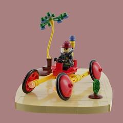 Space Fire Team: Febrovery 2019 (David Roberts 01341) Tags: lego ldd mecabricks render spacefireteam classic scifi rover buggy fireman minifigure