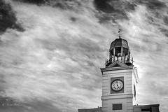"DSC_0765F-bn (Javier_1972) Tags: españa arquitectura torre reloj ""puertadelsol"" madrid cielo"