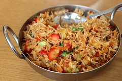 Manchurian fried rice, Neerob Restaurant, Parkchester, Bronx (Eating In Translation) Tags: bronx parkchester