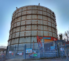 Oxted Gasholder (neuphin) Tags: oxted surrey gasholder gasometer demolition 2019 johnfhunt engineering structure redevelopment
