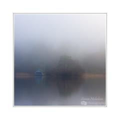 The Boathouse (Simon Nicholson Photography) Tags: lake boathouse rydal lakedistrict foggy nikon tree