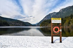 Buntzen Lake, Anmore, BC (SonjaPetersonPh♡tography) Tags: swimming beach buntzenlake anmore portmoody bc britishcolumbia canada nikon nikond5300 landscape waterscape lake water recreation fishing kayaking paddleboarding boatshed floatingwharf wharf snow winter 2019 serene scenery scenic forest trees trails