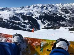 Snowboarding In Meribel (Marc Sayce) Tags: v flying custom burton meribel courchevel spring march 2019 mountains snow snowboarding skiing ski resort three valleys trois vallées savoy savoie
