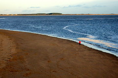 Alone (gcobb84) Tags: sand sea water people red beach