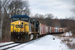 Out of the Valley (conrail6809) Tags: geac4400cw ge ac4400cw csx csxt csxtransportation csxt509 potash train trains csxcw44ah railroad railfan railfanning snow winter mccordsmi cascademi michigan locomotive potashtrain csxg010