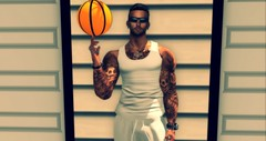 Basketball 2 (Tomekk Glasgow) Tags: secondlife sl just me game activities basketball male avatar