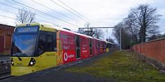UK - Manchester tram (onewayticket) Tags: tram transport metrolink bombardier m5000 bombardierm5000 alloverlivery
