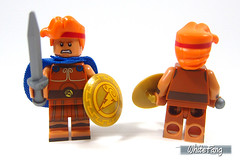 All rounded view (front & back view) - removal of cape (WhiteFang (Eurobricks)) Tags: lego minifigures cmfs collectable walt disney mickey characters licensed design personality animated animation movies blockbuster cartoon fiction story fairytale series magic magical theme park medieval stories soundtrack vault franchise review ancient god mythical town city costume space