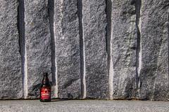 near Reeperbahn (bhermann.hamburg) Tags: flasche bottle bier beer rot red wall wand grau grey hamburg reeperbahn minimalistic minimalistisch