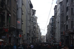 Istiklal Caddesi (lazy south's travels) Tags: istanbul turkey turkish urban shopping road street scene people candid architecture beyoglu district istiklal