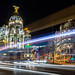 Light Trails in Madrid