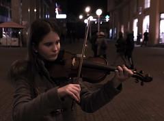 (ana_kapetan_design) Tags: portret violin music street girl people sweet night