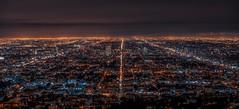 Endless roads, L.A (reinaroundtheglobe) Tags: losangeles la city cityscape night nightphotography longexposure highangleview aerialview illuminated usa california reiniersnijders reinaroundtheglobe