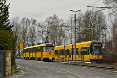 Tatra T4D-MT #224_267 Bombardier NGTD8DD #2629 Dresden Drezno (3x105Na) Tags: tatra t4dmt 224267 bombardier ngtd8dd 2629 dresden drezno tram tramwaj strassenbahn strasenbahn deutschland germany niemcy sachsen saksonia
