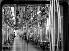 the subway jungle / repetition (Özgür Gürgey) Tags: 2014 50mm bw d7100 kazlıçeşme marmaray nikon corridor repetition street subway istanbul