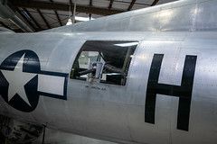 Boeing B-17G Flying Fortress Port Waist Gun (Serendigity) Tags: 390thmemorialmuseum arizona b17 boeing pimaairspacemuseum tucson usa usaaf unitedstates wwii aircraft aviation bomber hangar indoors museum unitedstatesofamerica