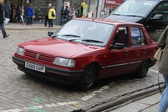 1988 Peugeot 309 GE (occama) Tags: e680uvp 1988 peugeot 309 ge star red old car cornwall uk rare french coventry ryton