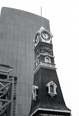 Yonge  Fire Station Tower (Bill Smith1) Tags: believeinfilm billsmithsphotography canonnewf1 fdn50f14lens hc110b heyfsc kodaktrix4001600 toronto