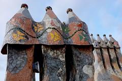 Chim Chim Cheroo (Douguerreotype) Tags: architecture city chimney barcelona buildings urban gaudi spain catalunya art roof