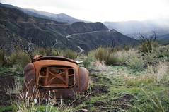 """If I Should Go Before You"" (nedlugr) Tags: ifishouldgobeforeyou cityandcolour california ca usa venturacounty hwy33 wreck rust mountains lospadresnationalforest rain"