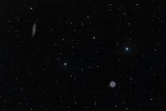 Owl nebula M97 and edge-on galaxy M108 (Photoniac22) Tags: astronomy deepsky galaxy night