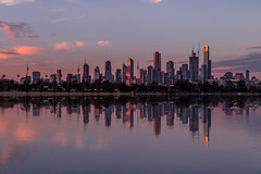 On the water (Jared Beaney) Tags: canon6d canon australia australian photography photographer travel victoria melbourne albertpark albertlake sunset reflections reflection city cityscapes cityscape